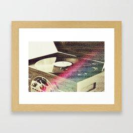 Music on the stereo Framed Art Print