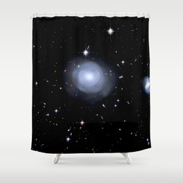 Distant galaxies. Shower Curtain