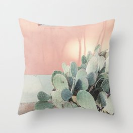 Scenes from Marfa II x Pink Cactus Art Throw Pillow