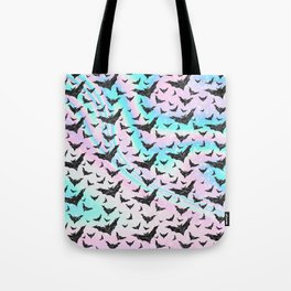 Holographic Glitter Bats Pattern Tote Bag