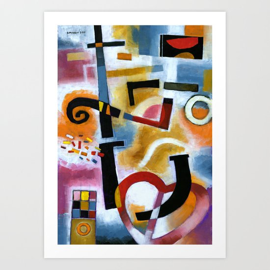 Party in the Kitchen Art Print