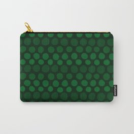 Emerald Green Subtle Gradient Dots Carry-All Pouch