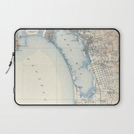 Vintage Map of San Diego California (1902) Laptop Sleeve