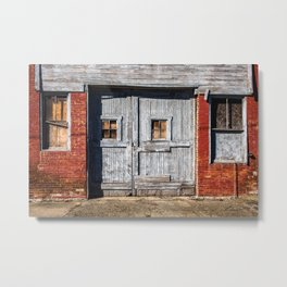 In the Door Series, wooden weather beaten textured doors Metal Print