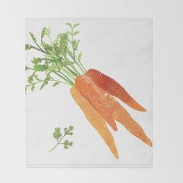 Carrot Illustration Throw Blanket