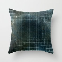 Weathered Grid Throw Pillow