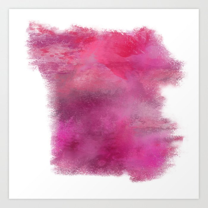 Abstract Pink Color Story Art Print