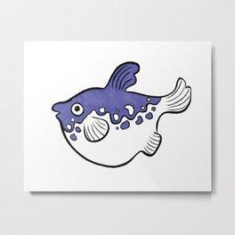 Japanese Puffer Fish Metal Print