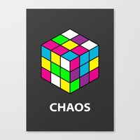 chaos Canvas Prints featuring Chaos by Dizzy Moments