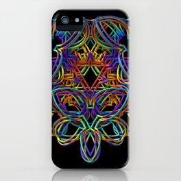 Rainbow 3-D Doodle iPhone Case