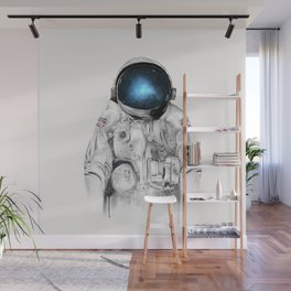 the astronaut Wall Mural