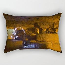 The Long Necked Dachshund Enjoys a Flower Rectangular Pillow