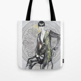 Fashion black and white illustration Tote Bag