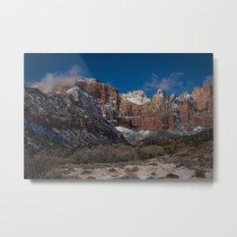 Zion Winter 4720 - National Park, Utah Metal Print