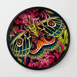 Bunaeopsis Moth Wall Clock