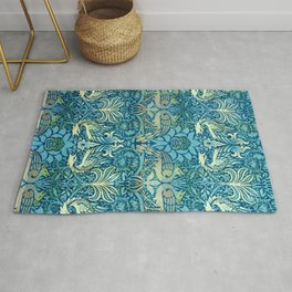 "William Morris ""Peacock and Dragons"" (2) Rug"