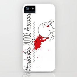 Hasta los huevos iPhone Case