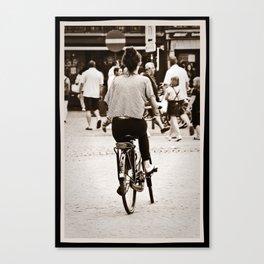 Pedal power Canvas Print