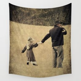 Union Soldier and Daughter Wall Tapestry