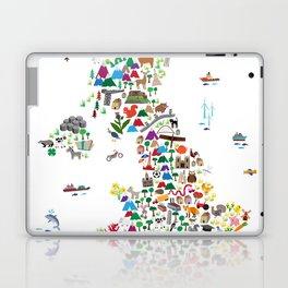 Animal Map of Great Britain & NI for children and kids Laptop & iPad Skin