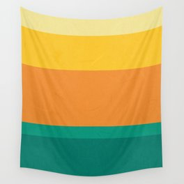 Five Shades of Sunset Wall Tapestry