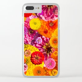 Zinnias 1 Clear iPhone Case