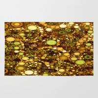 solid Area & Throw Rugs featuring :: Solid Gold :: by :: GaleStorm Artworks ::