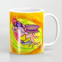 fairies Mugs featuring sleeping fairies by Mottinthepot