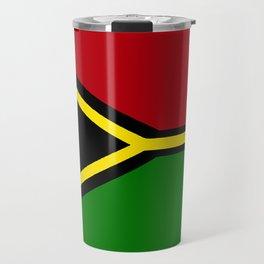 Vanuatu Flag with Map of Vanuatu Travel Mug
