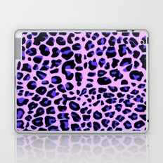 Blue and Black Leopard Print in Soft Pink Laptop & iPad Skin