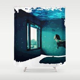 swimming room Shower Curtain