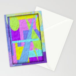 Geom Shaping Bright Stationery Cards