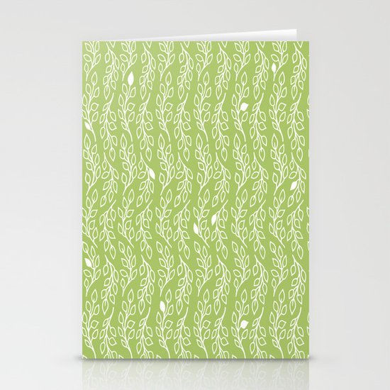 Pop Flowers Leaves Stationery Cards