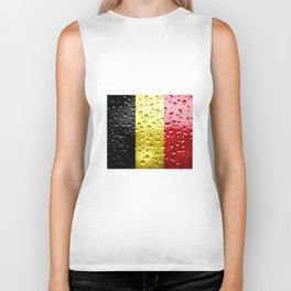 Flag of Belgium - Raindrops Biker Tank