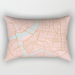 Taipei map, Taiwan Rectangular Pillow
