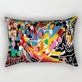 Abstract multicolor ing Rectangular Pillow