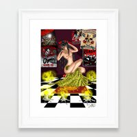 pinup Framed Art Prints featuring PinUp  by leFayIllustrations