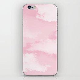 Girly blush pink white pastel color modern clouds pattern iPhone Skin