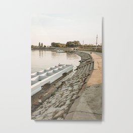 Tisa/Tisza river near Becej, Serbia Metal Print