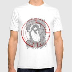 Target Nouveau. Mens Fitted Tee White MEDIUM
