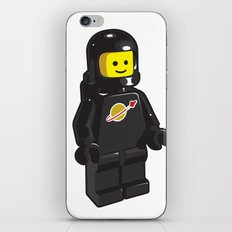 Vintage Lego Black Spaceman Minifig iPhone & iPod Skin