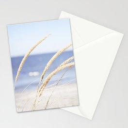 Beach Grass Blue Photography, Coastal Ocean Landscape, Sea Seashore Seascape Shore Stationery Cards