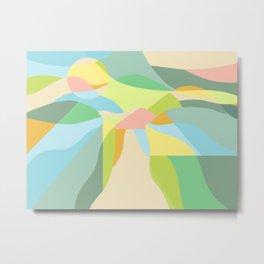 Pastel Super Bloom - Geometric Abstract Metal Print