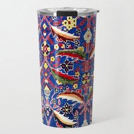 17th Century Floral Rug Antique Tribal Boho Print Travel Mug