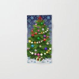 Christmas tree & snow v.2 Hand & Bath Towel