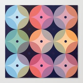 Colourful Geometric Circle Pattern Canvas Print