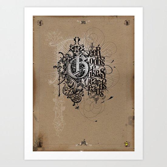 """""""Portland Parliament on Parchment"""" Art Print"""