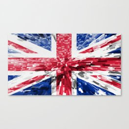 Extruded Flag of the United Kingdom Canvas Print