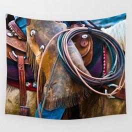 Tools of the Trade - Cowboy Saddle Closeup Wall Tapestry