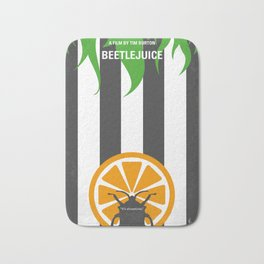No531 My Beetle juice minimal movie poster Bath Mat